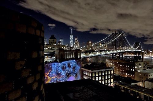 Long Shot of the NYFOL under Manhattan Bridge