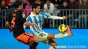 Isco Displaying Terrific Ball Control with Malaga Courtesy: Malaga Club De Futbol