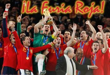 La Furia Roja - The Spain National Team Courtesy: http://www.puebloperiodically.com/la-furia-roja/